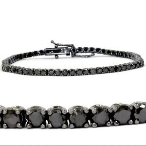 Jewelry - Black rhodium sterling black diamond bracelet